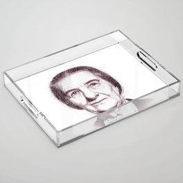 Golda Meir Acrylic Tray