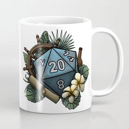 Seafaring D20 - Tabletop Gaming Dice Coffee Mug