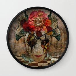 Venetian Mask in Fantasy World Wall Clock