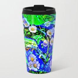 Nature Abstract 3  daisies Travel Mug