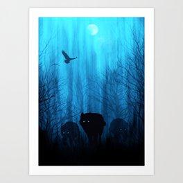 Wolf Pass: Cerulean Mist Art Print