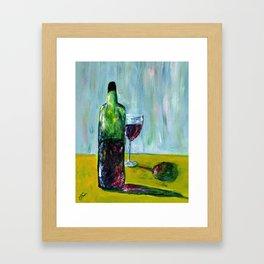 Be Happy. Drink Wine Framed Art Print
