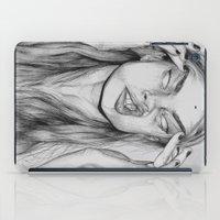 cara iPad Cases featuring Cara by David Pérez