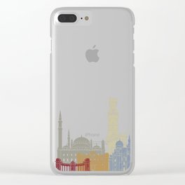Alexandria skyline poster Clear iPhone Case