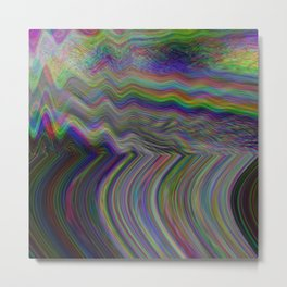 Digital pixel noise and glitch Metal Print
