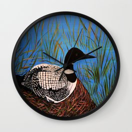 Loon on the Nest  Wall Clock