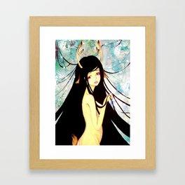 deer girl Framed Art Print