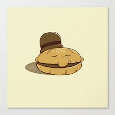 Burger Fiend Canvas Print