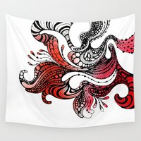 carnival Wall Tapestries featuring Carnival by Lena Sokol