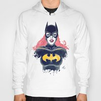 batgirl Hoodies featuring Batgirl by Alejandro Pinpon