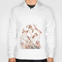 flamingo Hoodies featuring Flamingo by violaine costa