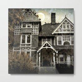 Haunted Hauntings Series - House Number 1 Metal Print