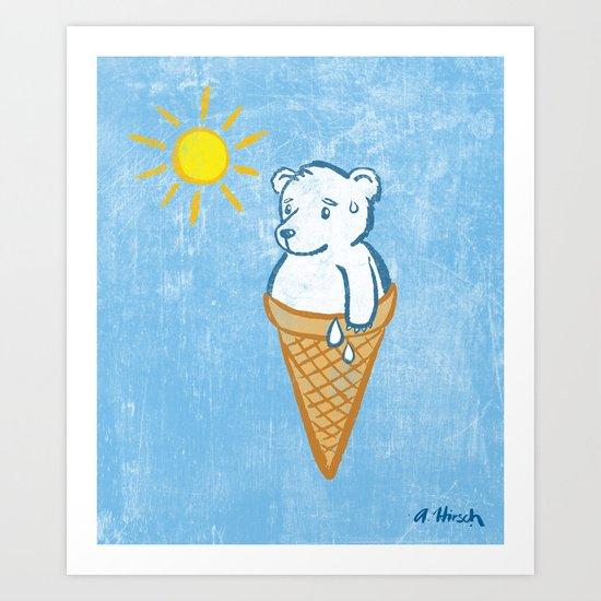 Icebear Art Print