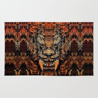 tooth Area & Throw Rugs featuring Saber Tooth by Zandonai