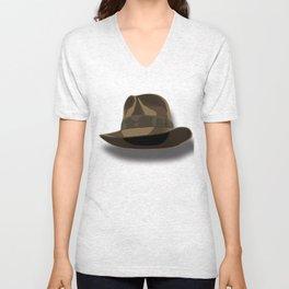 Don't lose your hat.  Unisex V-Neck