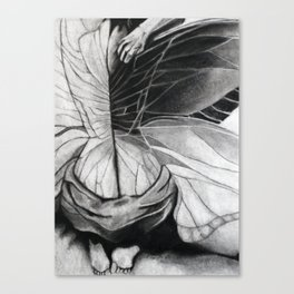 Metamorphosis // charcoal  Canvas Print