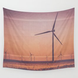 Southwest Windmills Route 66 Wall Tapestry