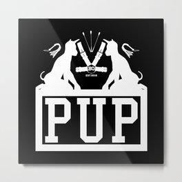 BQ - PUP (white) Metal Print