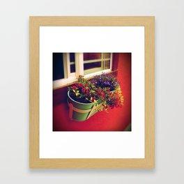 Bucket of flowers Framed Art Print