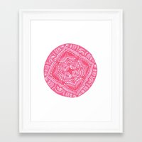 preppy Framed Art Prints featuring Preppy Flower by Brenna Whitton