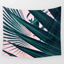 Pink sunset in paradise Wall Tapestry