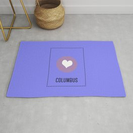 I Love Columbus Rug