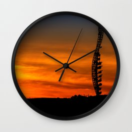 Possessed at Sunset Wall Clock