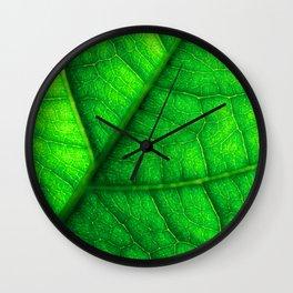 Sweet Green Leaf Wall Clock
