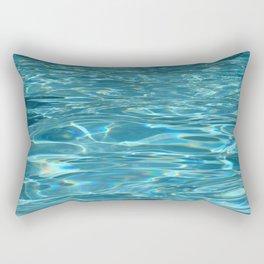 Blue Water - Pool - Beach - Ocean  Rectangular Pillow