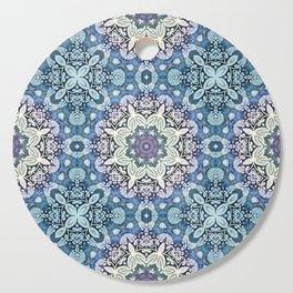 winter mandala pattern Cutting Board