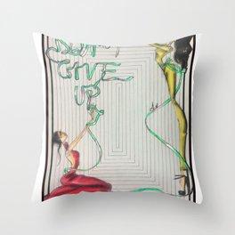 Green ribbon (Don't give up, honey!) Throw Pillow