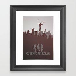 Chronicle (2012) minimal poster Framed Art Print