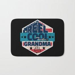 Reel Cool Grandma Fishing Mothers Day Reel Cool Fishing Gifts for Grandma I Grandmom Gift Bath Mat