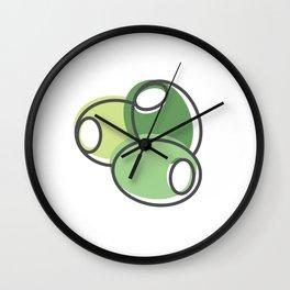 Greek Olives Wall Clock