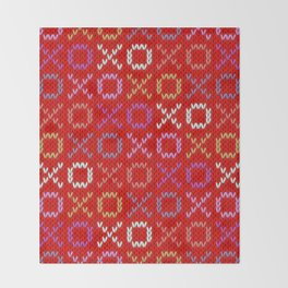 XOXO pattern - red Throw Blanket