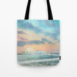 Frozen waves Tote Bag