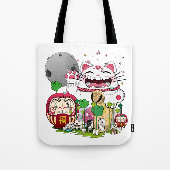 Maneki-neko in the magical world Tote Bag