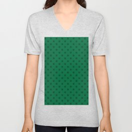 Black on Cadmium Green Snowflakes Unisex V-Neck