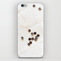 letters iPhone & iPod Skins featuring Letters by Colleen Farrell