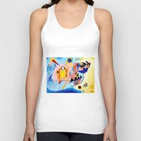 kandinsky Tank Tops featuring Yellow Red Blue - Tribute to Kandinsky by ArtvonDanielle