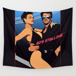 80s Stallone synthwave Wall Tapestry