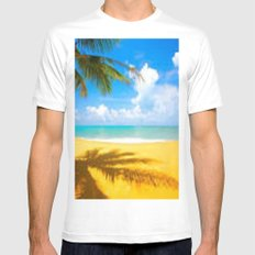 kill the beach White Mens Fitted Tee MEDIUM