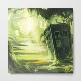 Tardis In The Swamp Metal Print