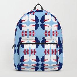 Kiwi bird - New Zealand national symbol, flag colors Backpack