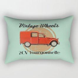 Vintage Wheels: Citroën 2CV Fourgonnette Rectangular Pillow
