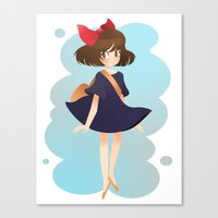 kiki Canvas Prints featuring kiki by andrea c