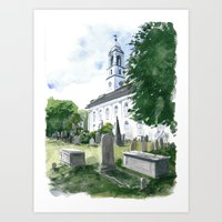 marc johns Art Prints featuring St. Johns, Charleston by Anthony Billings