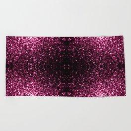 Beautiful Dark Pink glitter sparkles Beach Towel
