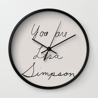 simpson Wall Clocks featuring You are Lisa Simpson by Expo