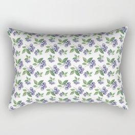 Watercolour blueberry pattern #s1 Rectangular Pillow